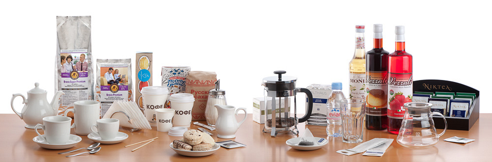 Ассортимент посуды и продукции