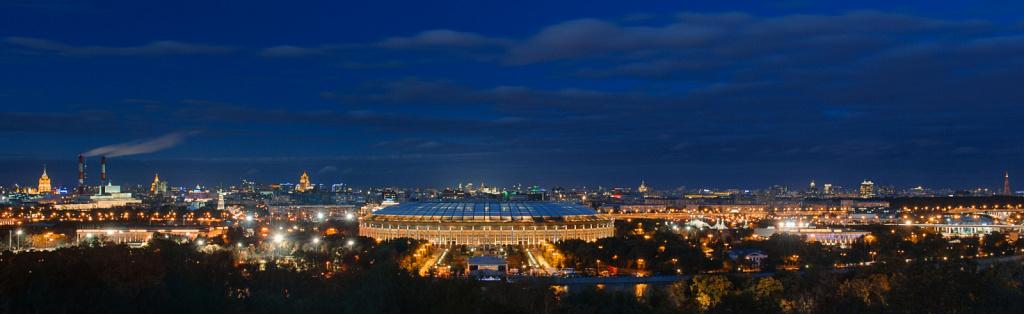 Панорама Москвы вечером
